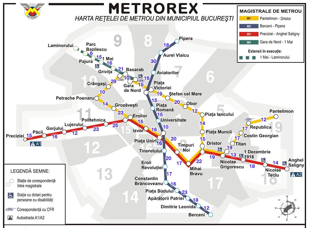 Harta Metroului Din București Parcursă Pe Jos Lipovan Ro