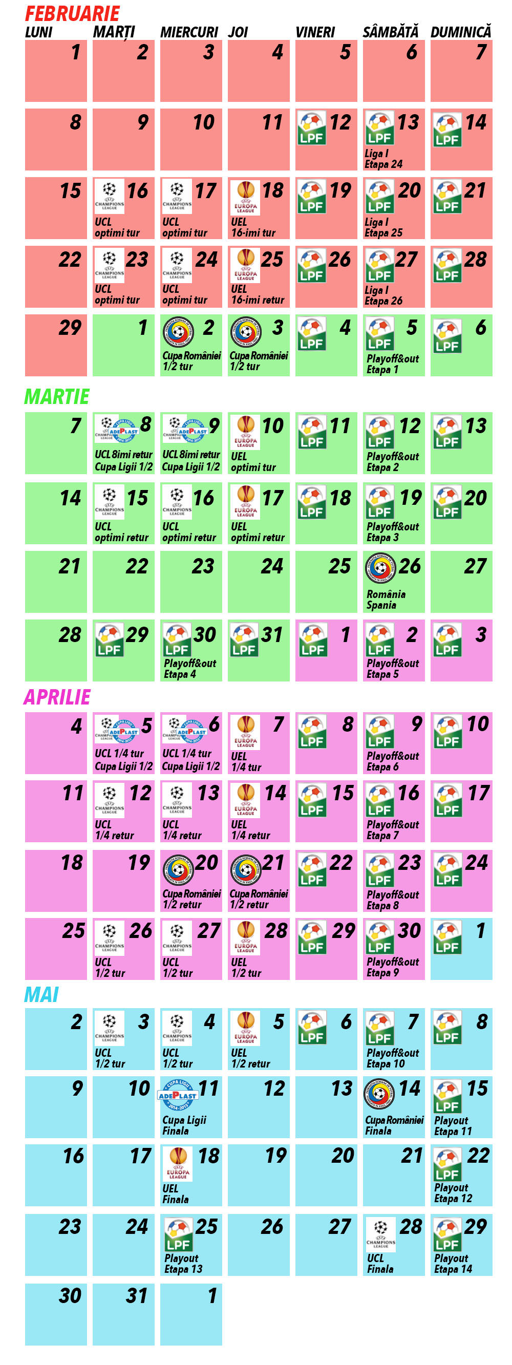 calendar fotbal