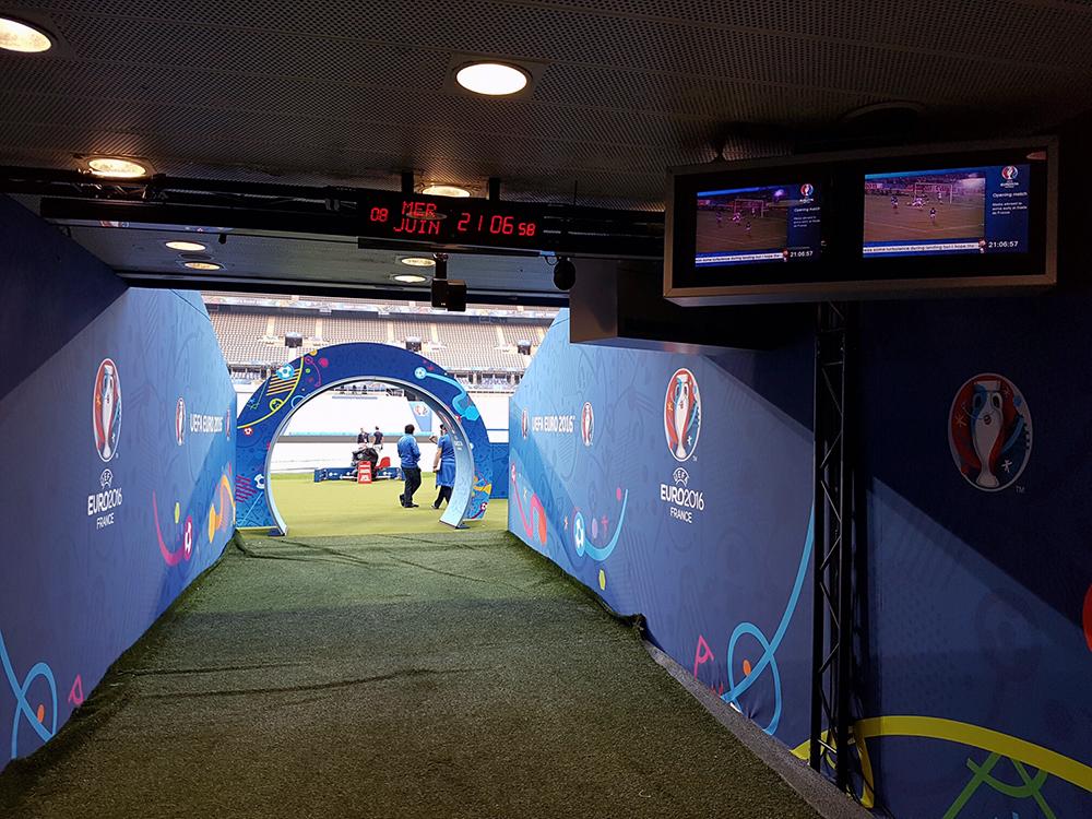 Intrarea pe tunel pe Stade de France